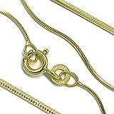 Goldkette Schlangenkette diamantiert Massiv 333 8Karat B: 0,80mm L: 45cm Echtgold Gelbgold Halskette hochwertiges Gold Collier für Damen Herren und Kinder
