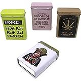 Bada Bing 4er Set Zigarettendose Zigarettenetui Zigarettenbox Hardcase Metall TT
