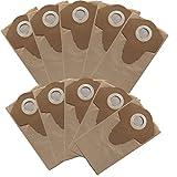 10x Papierfilterbeutel passend für Aldi Workzone Nass-Trockensauger Staubbeultel Filterbeutel für Nass-Trocken-Sauger Staubfangsack Papp Filterbeutel