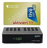 Set: TIVUSAT HD Gold Karte AKTIVIERT + 4K UHD Combo Receiver - Italienisch Tivusat Sender vorinstalliert - Astra & Hotbird / Eutelsat vorinstalliert - 3in1 Reciever für Sat, Kabelfernsehen & DVB-T2