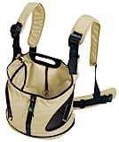 HUNTER KANGAROO Rucksack/Tragetasche, Hundetragetasche, Bauchtasche, kleine Hunde, Welpen 30 x 20 x 30 cm, beig
