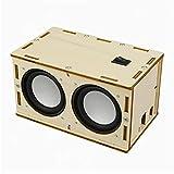 POHOVE DIY Macht Es Lautsprecher Set Tragbares Holzgehäuse DIY Bluetooth Lautsprecher Box Set DIY Bluetooth-Lautsprecherbox Für Learning
