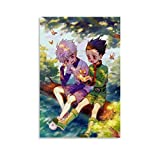 ERTYC Anime Hunter × Hunter Poster Killua Zoldyck & Gon Freecss Leinwand-Kunstdruck und Wandkunstdruck, modernes Familienschlafzimmerdekor, Poster, 50 x 75 cm