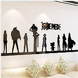 Cartoon Anime One Piece 3D Wandaufkleber Acryl Wohnzimmer Sofa Hintergrund Wanddekorationen Schlafzimmer Schlafsaal Schlafzimmer Aufkleber 100x30