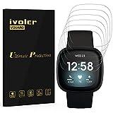ivoler 6 Stück Schutzfolie Displayschutzfolie für Fitbit Sense/Fitbit Versa 3 Smartwatch, 3D Vollständige Abdeckung [Wet Applied] [Anti-Kratz] [Blasenfrei] HD TPU Weich F