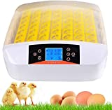 56 Eier Intelligentes LED digitales Inkubator Brutmaschine Brutkasten mit Temperaturanzeige und Feuchtigkeitsregulierung,Automatische Turner Digital Eier Hatchery