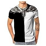 Herren Sommer T-Shirt Rundhals-Ausschnitt Slim Moderner Männer Top Crew Neck Kurzarm