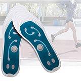 EnweOil Schuheinlagen Magnetische, Sohlen Pads Bionische mit Flüssigkeit, Gesundheitswesen Fußmassage Für Relaxed Feet Orthopädische Gegen Fußschmerzen mit WohlfühlEffekt,Blau,42