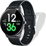 Smart Watch Fitness Tracker HR Touch Screen Activity Tracker IP68 Wasserdicht Fitness Uhr mit Herzfrequenz Schlafmonitor Schrittzähler Kalorienzähler Stoppuhr Laufuhr für Herren Damen