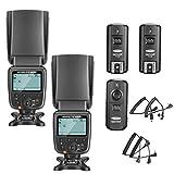 Neewer 2 Packs NW561 LCD-Display Flash Speedlite Kit für Canon Nikon Panasonic Olympus Pentax Fijifilm und Sony mit Mi Hot Shoe Kameras mit 2,4G Wireless Trigger (1 Sender und 2 Empfänger)