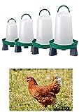 Zoo-Papp Hühnertränke(!!!!) in verschiedenen Größen grün und rot I Geflügeltränke für Hühner I Zubehör Zucht Aufhängbarer Wasserspender I Wassertränke automatisch,(Grün, 3 Liter)