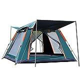 HMSLINCK Camping Im Freien Vollautomatische Geschwindigkeit Open Beach Camping Regenfestes Sonnenschutzzelt Mehrpersonen-Camping-GrüN_215 * 215 * 142 cm