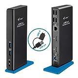 i-tec USB 3.0/USB-C Dual Docking Station für Tablets und Notebooks – 2X HDMI Full HD+, 4X USB 2.0, 2X USB 3.0, Gigabit Ethernet, Audio/Mik, Kompatible mit Windows, macOS, Linux