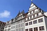 adrium Poster-Bild 80 x 50 cm: Leipzig Markt Square - City in Saxony, Germany, Bild auf Poster