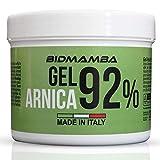 BidMamba Arnika-Gel 92% 500ml | Arnika Salbe Hochkonzentriert , Entzündungshemmende Salbe, Schmerzgel Entzündungshemmend Stark, Gelenkschmerzen Salbe, Schmerzsalbe Stark Entzündungshemmend