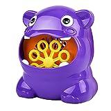 Bubble Machine für Kinder, Hippo Bubble Machine automatische elektrische Bubble Blowing Maschine im Freien Kinderspielzeug (lila)