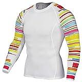 WAQD Herren Kompressionsshirt Slim Fit Fitness-Langarm-T-Shirt Tarnung Funktionsshirt, Atmungsaktives Männer Stretch Schnelltrocknender Muskelshirt Gym Trainings Sportlauf Bodybuilder Hemd