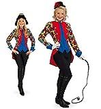 KarnevalsTeufel Jacke Zirkusdirektorin Dompteurin bunt Gardeuniform (40)