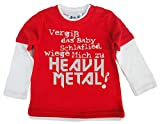 Dirty Fingers, Vergiß das schlaflied, Heavy Metal!, Skater langärmlig, 12-18m, Rot & Weiβ