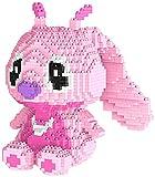 RSVT Stittch Bausteine Für Kinder Mini Diamant Block Montieren Cartoon Modell Spielzeug Geschenke,Rosa