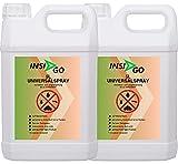 INSI GO Insektenspray - Universal Insekten-Spray - Hochwirksam gegen Insekten, Ungeziefer und deren Larven - auf Wasserbasis - geruchlos Insekten im Haus bekämpfen - 2x5 Liter