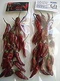 40 Stück Chili Paprika getrocknet 2 x 20er Beutel aus Kalocsa Ungarn
