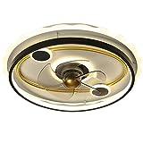 LED Deckenventilator Mit Beleuchtung Modern Fernbedienung Lüfter Deckenleuchte Ultra Leise Unsichtbar Wind Lichtquelle Einstellbar Ventilator Deckenlampe Schlafzimmer Fan Lamp