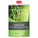 DE-COmmerce® 1 Liter Bambusöl BAMBOO CARE farblos für Bambuszaun außen I witterungsbeständiges Bambus Pflegeöl I Holzpflegeöl auf Leinölbasis I Klarlack für Bambus Holz zur Bambuspflege I Leinö