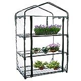 DINGDONGI Gartenpflanzen-Abdeckung, 3 Etagen, UV-Schutz, wasserdicht, tragbar, PVC-Gewächshaus