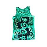 Sommer-Tanktop für Damen, Y2K, Hochformat, bedruckt, E-Mädchen, Batikfärbung, Camisole sexy, ärmellos, Crop Tank Tops, grün, S