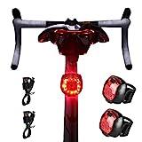 RBNANA Fahrrad-Rücklicht, 2 Stück, ultra hell, wiederaufladbar über USB, wasserdicht, Sicherheits-LED-Mountainbike-Rücklichter