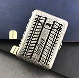 XIAOXIA Kreative Antike Silberne Doppelte Öffne Reine Kupfer 16 Zigarettenetui Geschnitzt Marlboro Tragbare Männer Zigarettenhalter