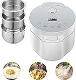 Reiskocher und Dampfer Automatisches Kochen, einfache Reinigung Machen Sie Rice & Dampf gesundes Essen & Gemüse Braew, Eintopf und Rühren, 800W, 5L