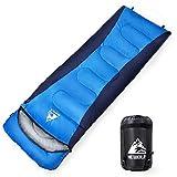 HEWOLF Schlafsäcke Wasserfeste Mumienschlafsäcke Leichter Deckenschlafsack Camping Schlafsack Daunenschlafsack Rechteckiger Schlafsack mit Kompressionssack 10°C-15°C 1,6KG