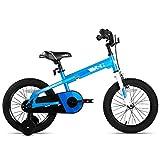 Joystar 12 Zoll Kinderfahrrad mit Laufrädern für Kinder im Alter von 2 3 4 Jahren, Jungen und Mädchen, Kleinkinder-Fahrrad mit Handbremse für Frühfahrer, Blau