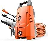 Leistungsscheibe elektrischer Hochdruckreiniger 1200W, Autodruckreiniger Terrassenreiniger mit Spritzpistole, Home Hochdruck-Autowaschpumpe Plus Lange Waffe