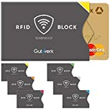 RFID NFC Schutzhülle TÜV geprüft 6 Stück reißfest stabil dünn   100% Kreditkartenschutz vor Datenklau RFID Blocker Karte   EC Kartenhülle RFID NFC Schutz TÜV   RFID Hülle Kreditkarte