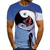 SSBZYES Herren-T-Shirts Herren Kurzarm-Herren-Rundhals-T-Shirts Herren Kreative Mal-T-Shirts Farbe Stone Monkey 3D-Druck Kurzarm-Mode Herren-T-S