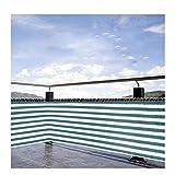 LJIANW Sichtschutzstreifen, HDPE Datenschutzschild Gartenzaun Undurchsichtig Wasserdichtes Material Winddichter UV-Schutz Für Balkon, Terrasse, 8Größen (Color : Green+White, Size : 0.75x3m)