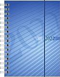 rido/idé 7013102302 Taschenkalender perfect/Technik I, 2 Seiten = 1 Woche, 100 x 140 mm, PP-Einband blau, Kalendarium 2022
