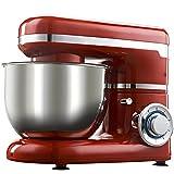 Küchenmaschine, 6-Gang | 1200W | 4-Liter-Rührschüssel | Beinhaltet Beater, Whisk & Dough Hook | Essenszubereitung, Backen & Kochen [Energieklasse A +++]