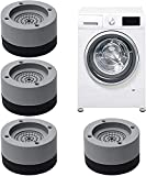 4 Stück Waschmaschine Fußpolster, Waschmaschinenunterlage Antivibrationsmatte waschmaschinenunterlage für Waschmaschinen & Trockner Tables, chairs, etc.(Geben Sie 4 Stück Fixierkleber frei)
