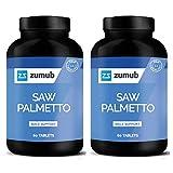 Zumub Saw Palmetto - 2x 60 Tabletten | 2er Pack 3000mg hochdosiert | Sägepalme Extrakt Prostata Prostatabeschwerden | Nahrungsergänzungsmittel (120 Tabletten)