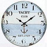 SUNTAOWAN Haus antiker Wandtisch mutet Uhr Quartz Clocks ist EIN Familienrestaurant Küche Büro Schulen sind ideal for jeden Raum, Y (Farbe: -, Größe: -)