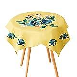 JYDQM Tischdecke, Runde Vinyl Wachstuch Spitze Tischdecke Kunststoff auslaufsichere Tischdecke