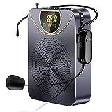 Sprachverstärker, Tragbarer Bluetooth Lautsprecher mit Mikrofon Headset, Kuchoow Mikrofon Verstärker für Training, Gesang, Präsentation und Reiseführer