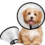 Frienda 2 Stück Haustier Kegel Einstellbar Halskrause Katze Kegel E-Halsband, Kunststoff Elizabeth Schutz Halsband Anti-Beißen Lecken Praktisch Sicherheit Halsabdeckung, Klein und Medium Größe