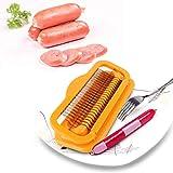 Komfortabler Schinkenschneider, Korrosionsschutz Edelstahl Material Sicher Gesunder Hot Dog Cutter, für geschnittene Würste, Hot Dog, Schinkenwurst Verschiedene Küchenbedürfnisse