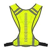 SZTUCCE Warnwesten Außen Nacht Reiten oder Fahren Rennen Warnweste Sicherheit Sicherheit Sport Vest Nacht Fahrrad Radfahren Reiten Jogging-Weste Guiding Light (Color : Green)