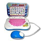 Persdico Tragbare zweisprachige frühpädagogische Lernmaschine, Kinder-Laptop-Spielzeug mit Maus, Computer-Kindergeschenk-Entwicklungsspielzeug